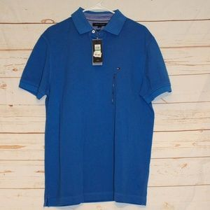 NWT Tommy Hilfiger Blue Classic Short Sleeve Polo